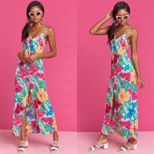 NWT Malibu Barbie Peyton lace up maxi dress -small